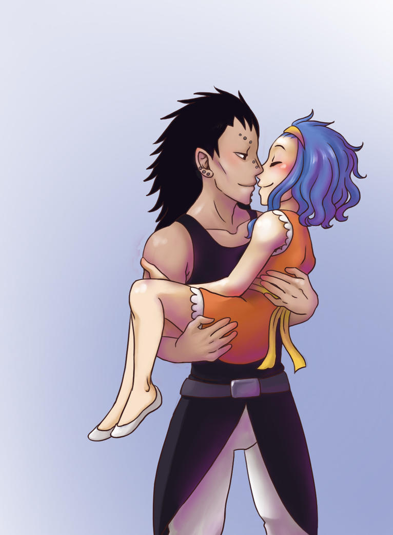 levy x gajeel  noses by brushbell on deviantart