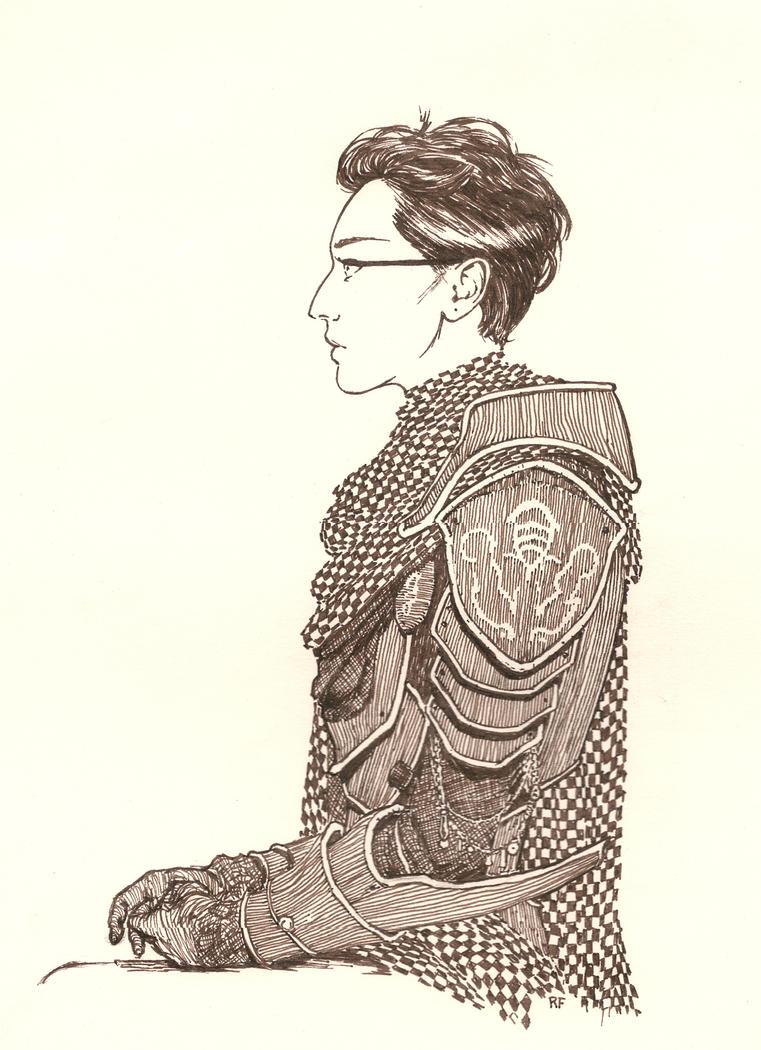 Warriorwoman by RandallFischer