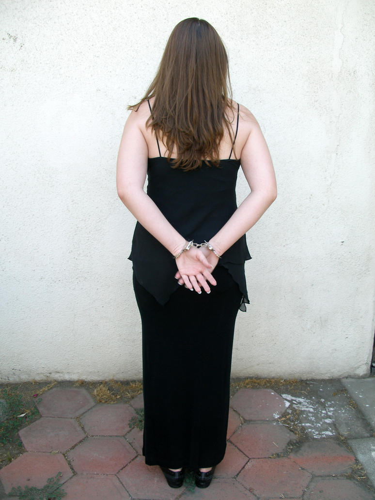 handcuffed back view 1 by PhoeebStock