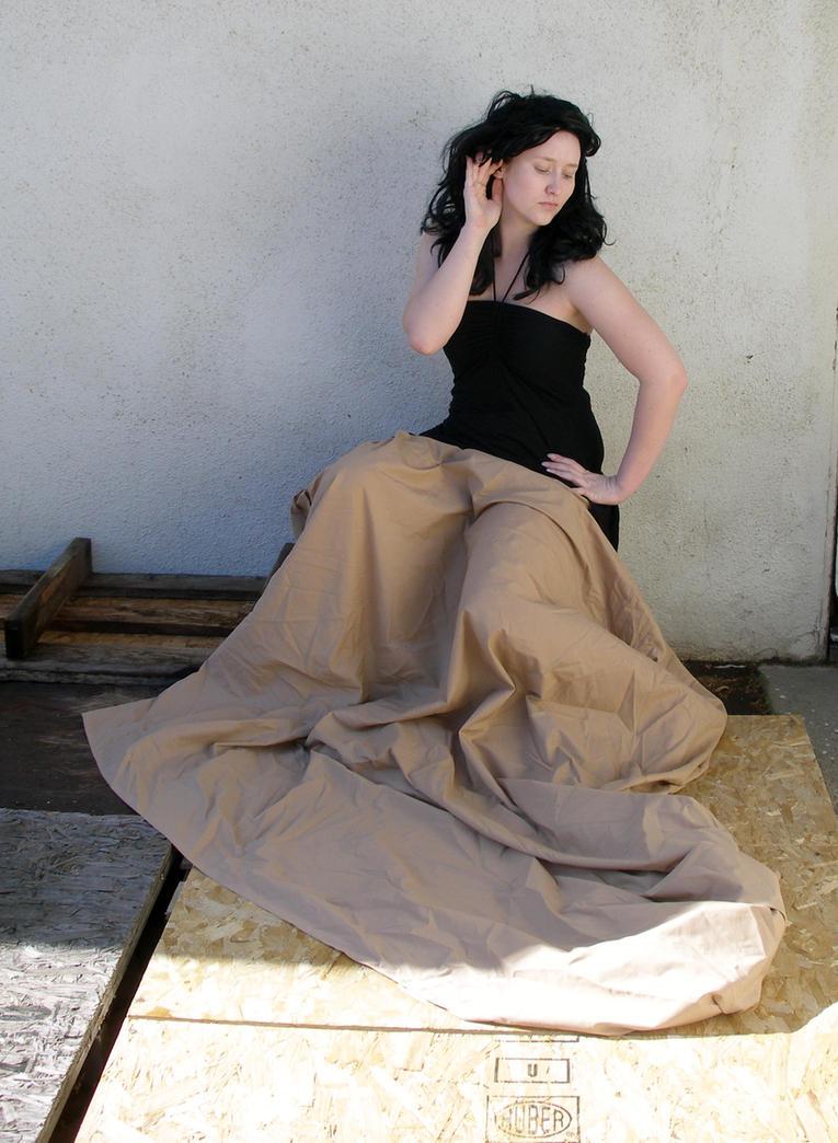 long brown skirt 2 by PhoeebStock