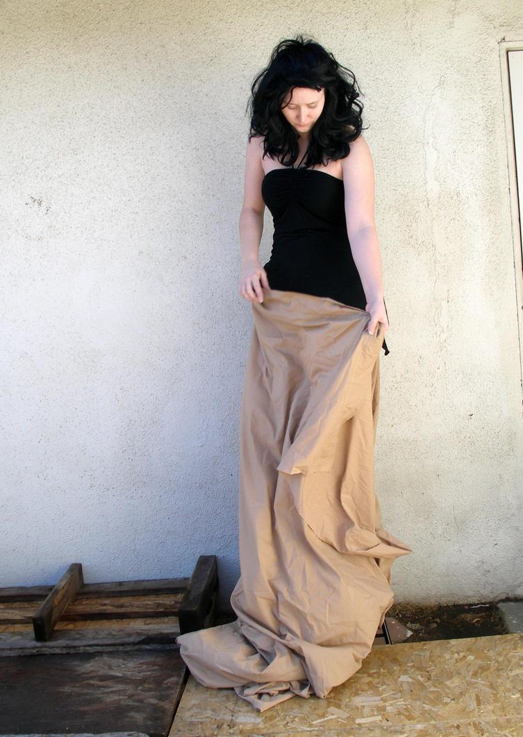 long brown skirt 5 by PhoeebStock