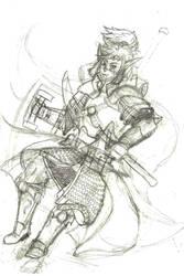 Character Sketch - Keisos Ambrugal by Keisos