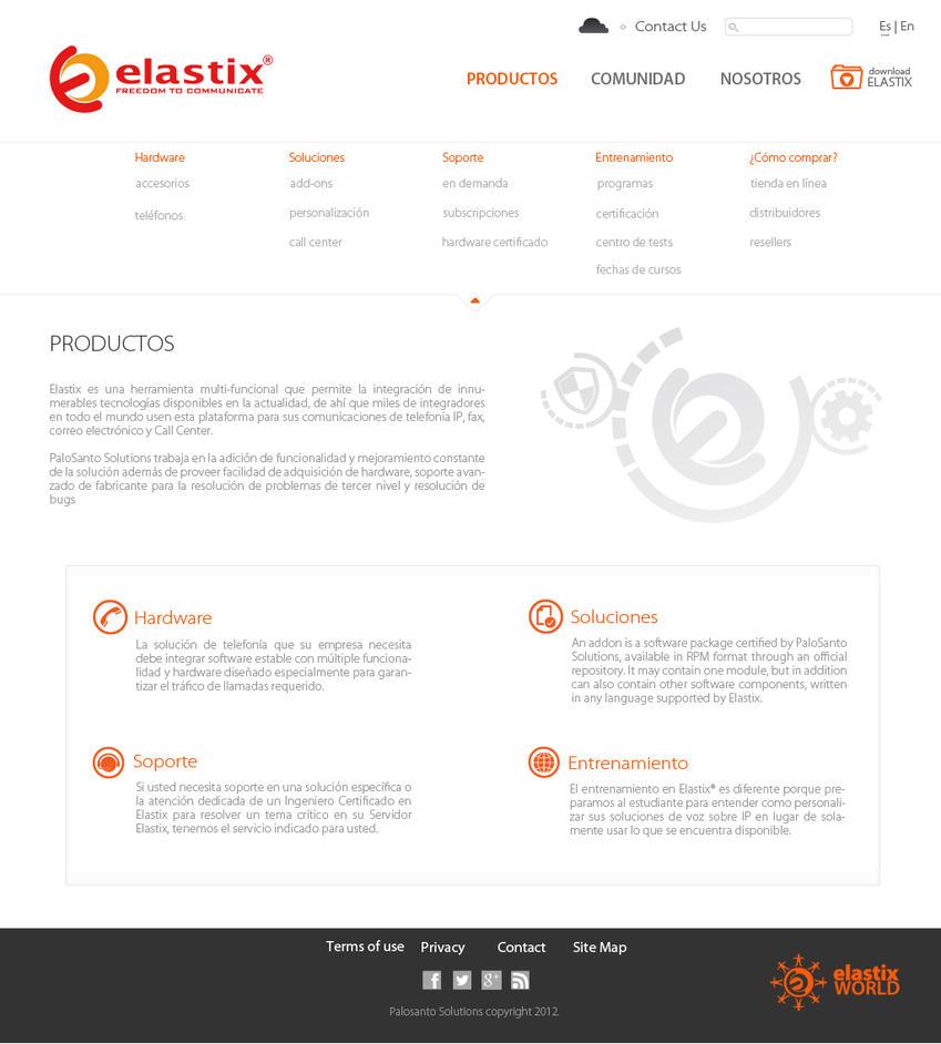 Interior re-design for Elastix website (Menu Open) by kikitoso
