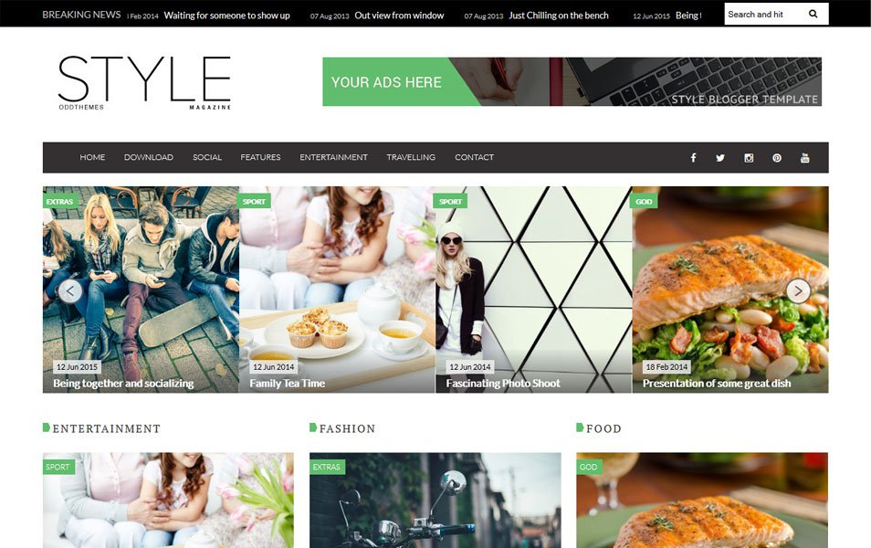 Style magazine blogger template free download by 3un5i on for E magazine templates free download