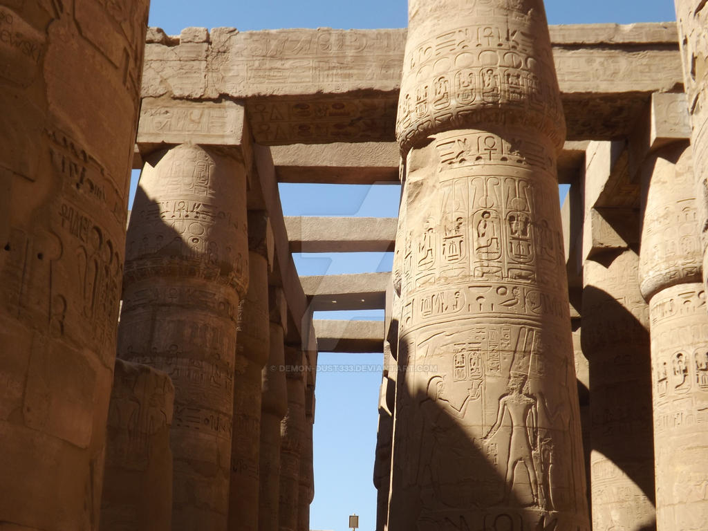 Karnak Temple by Demon-Dust333