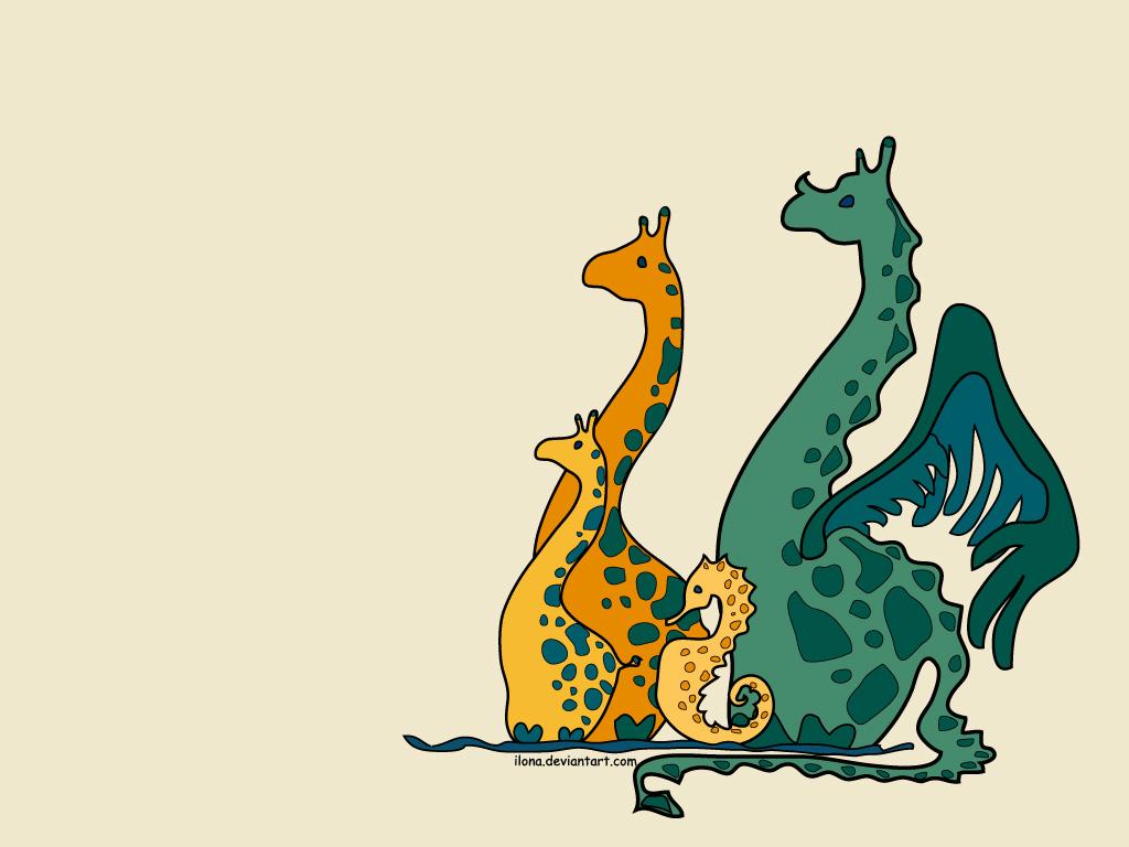 Смешное животное рисунок, днем рождения