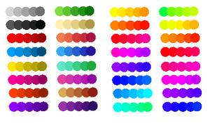 Rainbow Palletes Neons