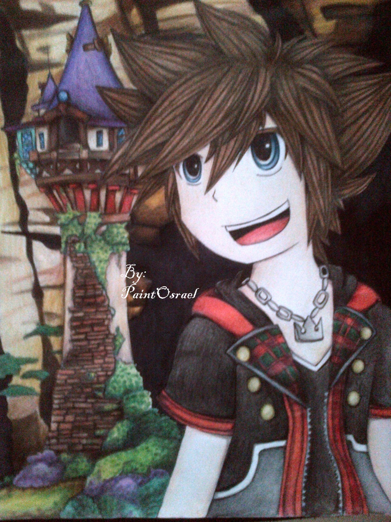 Sora_ Tangled KH3 by RubyRingtail