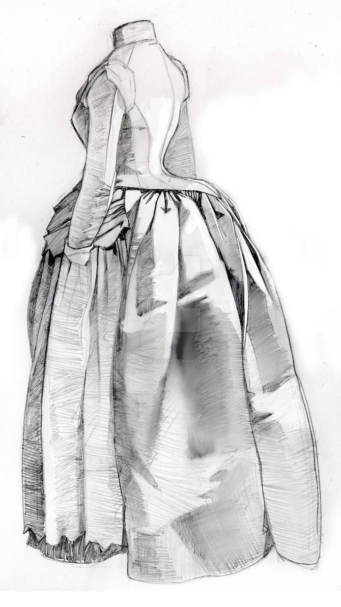 Bustle dress 2 by SGHILLUSTRATION