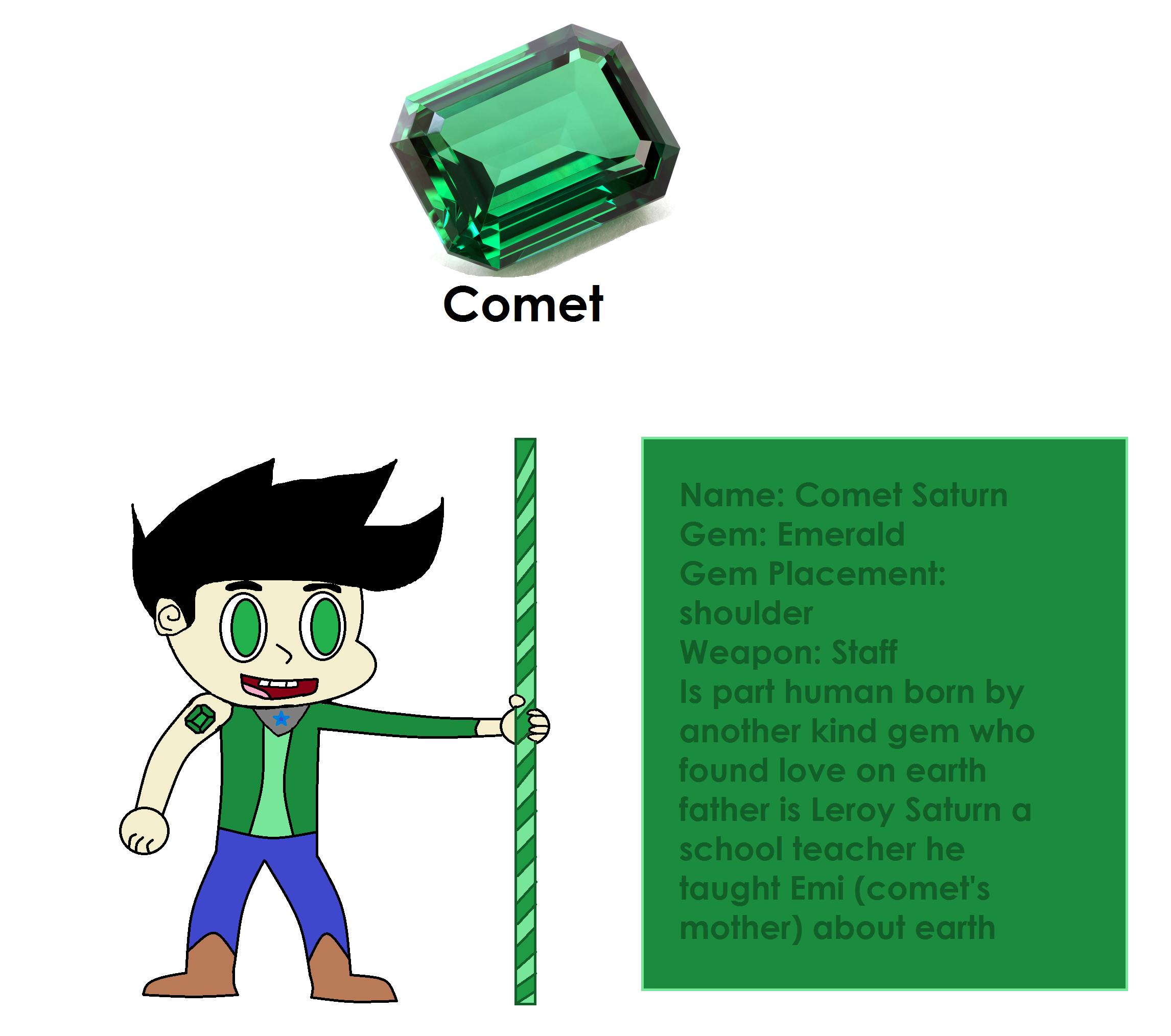 Shani Emerald: Comet Saturn By Beemario64 On DeviantArt