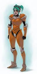 Terraria: Copper Armor by lexxercise