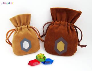 Zelda: Rupee Bags (Adult Wallet / Giant Wallet) by winter-wish