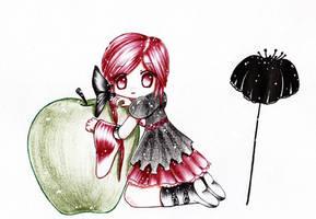 I luv green apples by Phantom-of-Iori