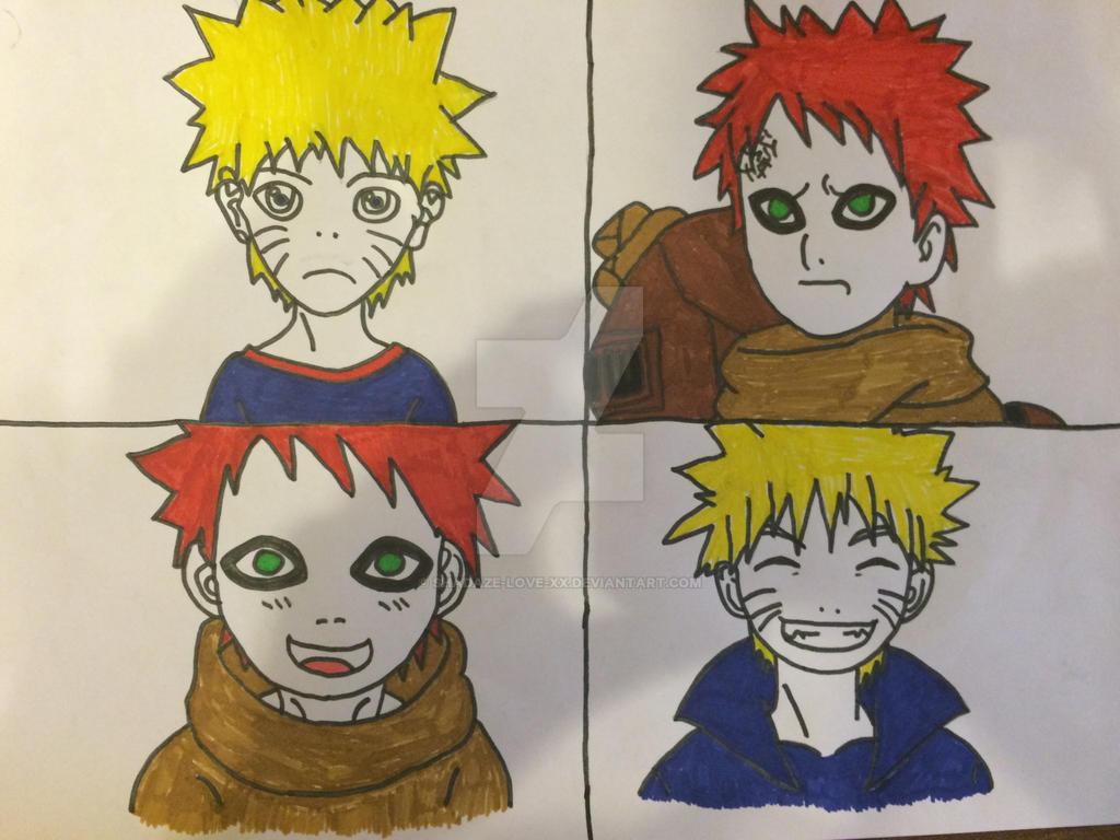 Naruto and gaara has children by shadaze-love-xx on DeviantArt Gaara And Naruto Kids