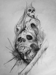 Tattoo Sleeve: Friday the 13th by kyrisnowpaw