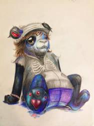 Paul as a Panda by kyrisnowpaw