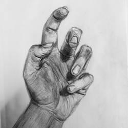 Hand Study by kyrisnowpaw