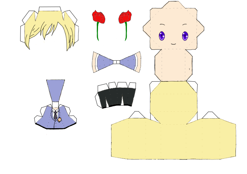 Паперкрафт аниме схемы с инструкцией