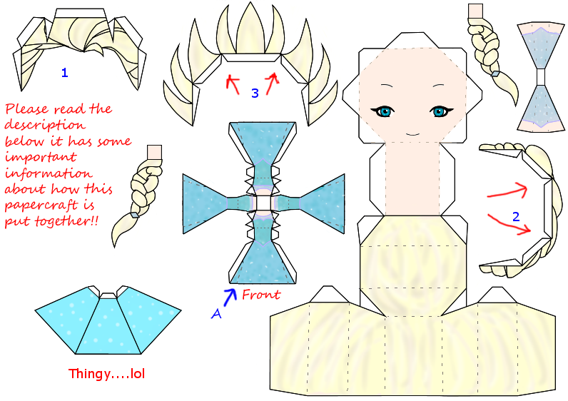 Elsa Papercraft Template Disney Frozen By Groncaloncia