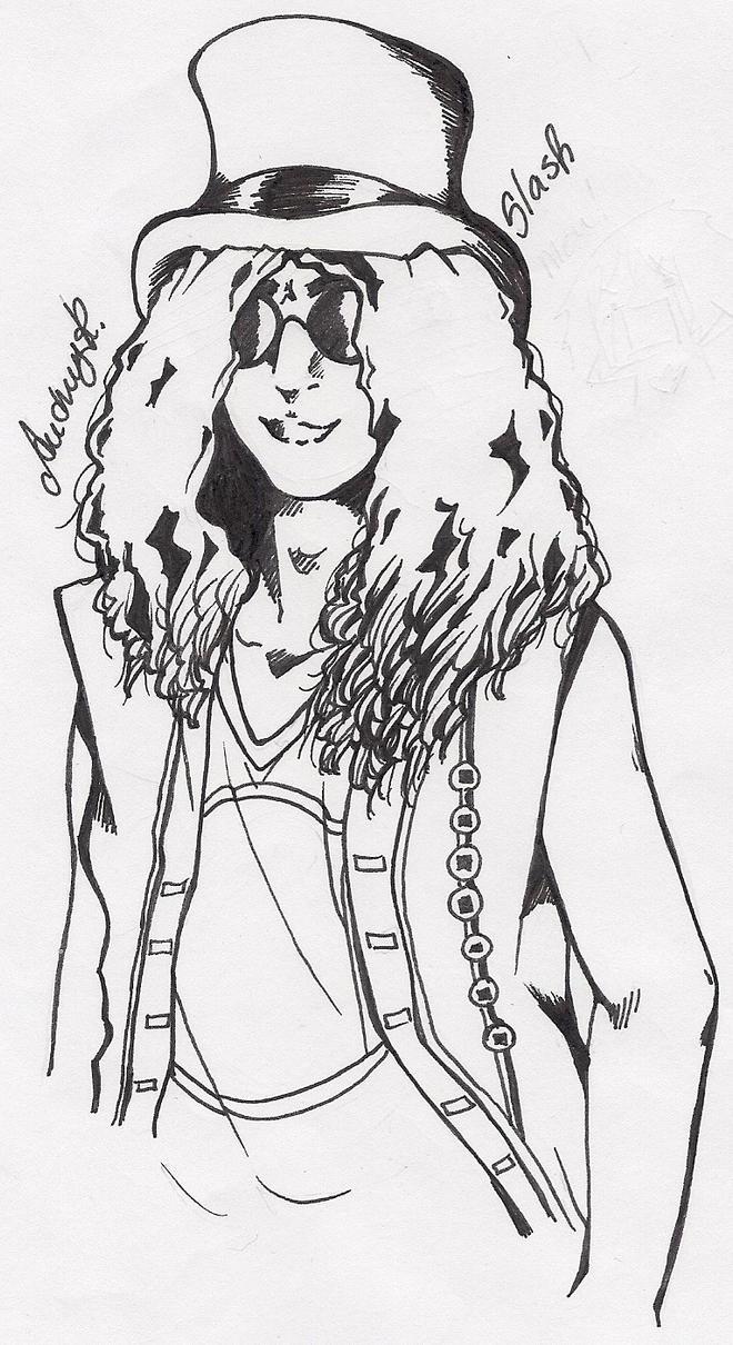 Slash Guns N Roses Coloring Pages