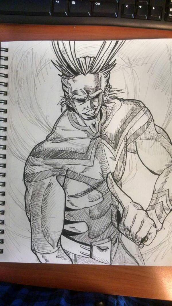 All Might Ink/Sketch by JessxJess