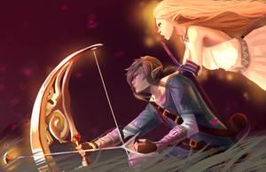 Link and Zelda by JessxJess
