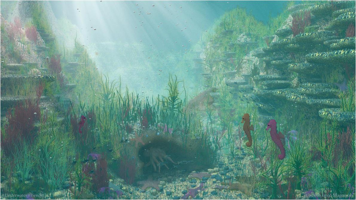 Underwater Friends by JaredTheDragon