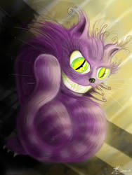 Cheshire Cat speed painting by MarkSerlo