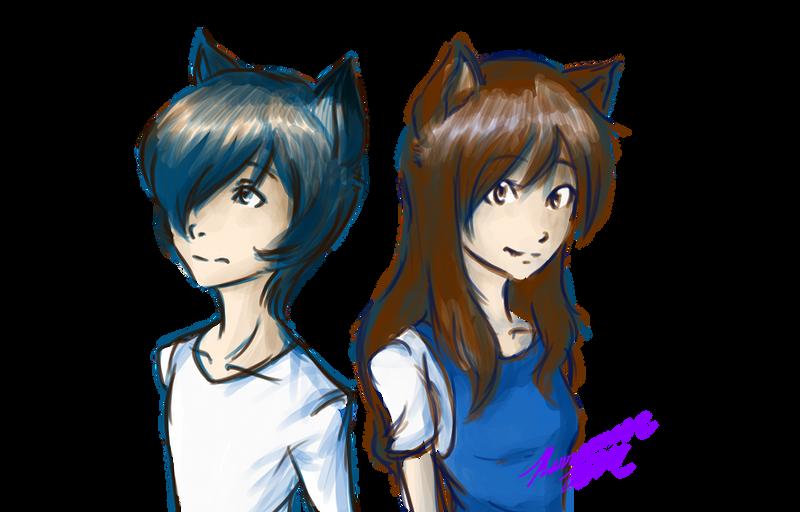 Wolf Children: Ame and Yuki by Karramon