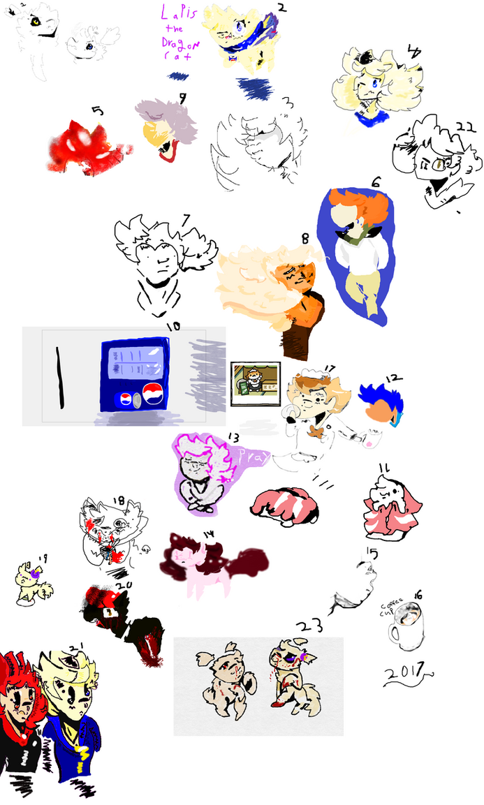 ~2017 ART DUMP~ by swaggamer3333