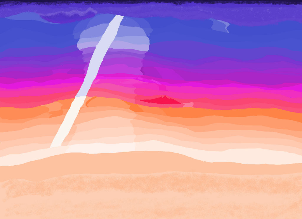 2018 mspaint oceansunset background (DON'T USE) by swaggamer3333