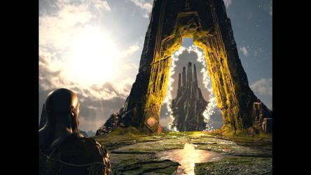 God of War. The bridge to Jotunheim.