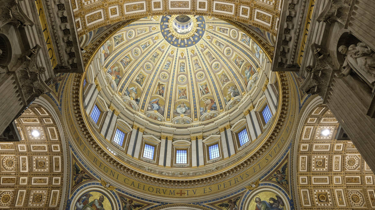 The ceiling of Saint Peter's Basilica.