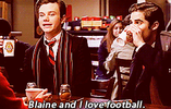 Blaine loves football, I love scarves.... -Kurt by Sugerpie56