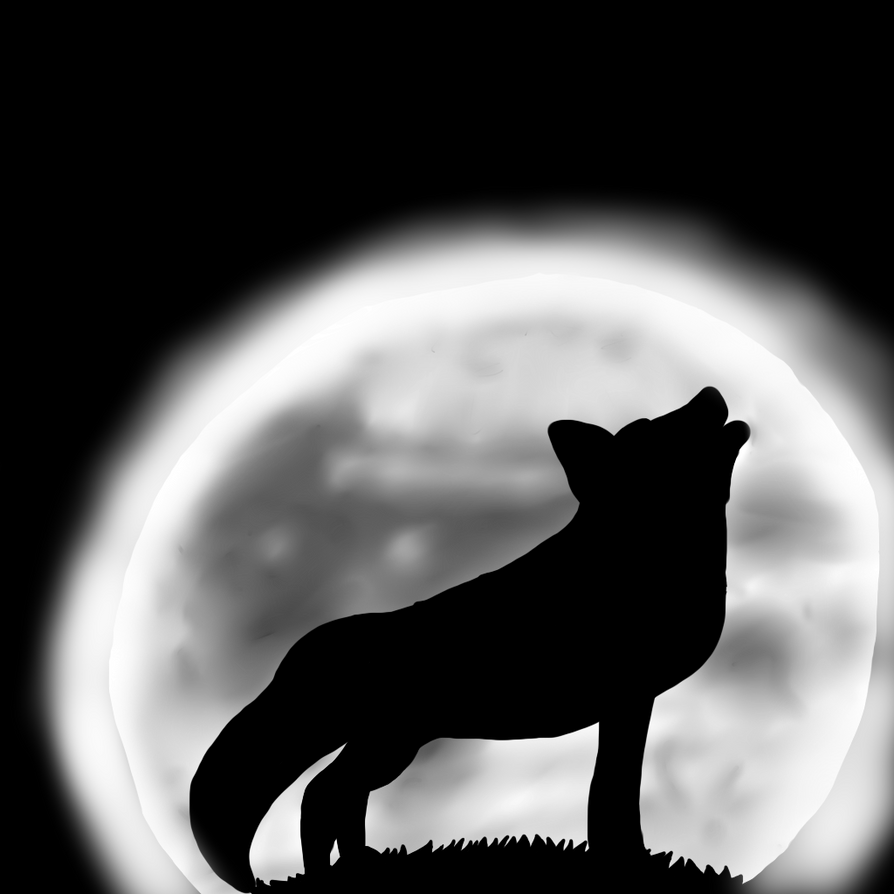 wolf howling at the moon by violentbeautyhtf