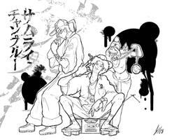 Samurai Champloo ICED linework by DarkKenjie