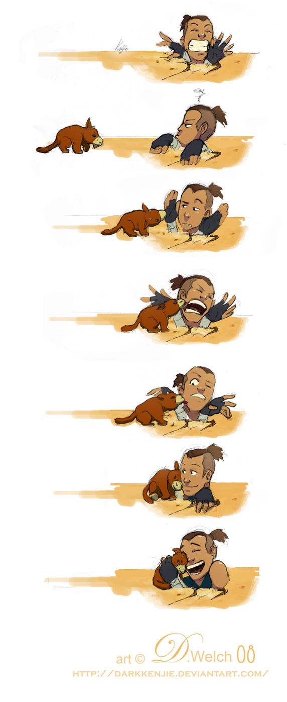 Sokka and Foofocuddlypoops by DarkKenjie