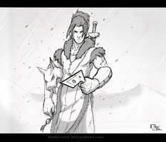 Sokka - You took her -sketch- by DarkKenjie