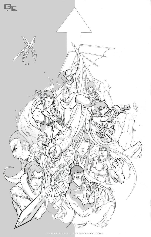 Avatar Season 4 poster -lines-