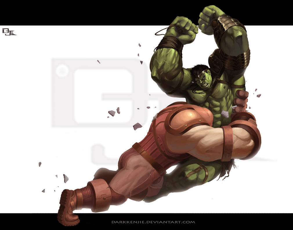 World War Hulk vs Juggernaut by DarkKenjie