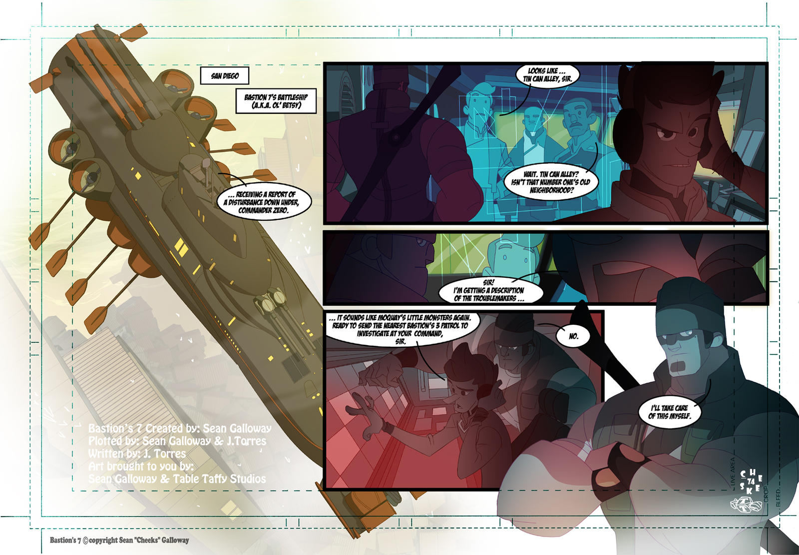 Bastion's 7 Webcomic page 1 by DarkKenjie