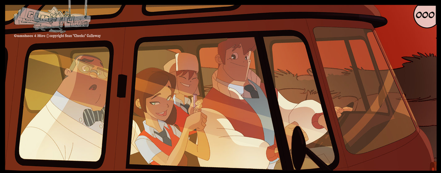 Gumshoes 4 Hire ish 1 panel peek-a-boo! by DarkKenjie