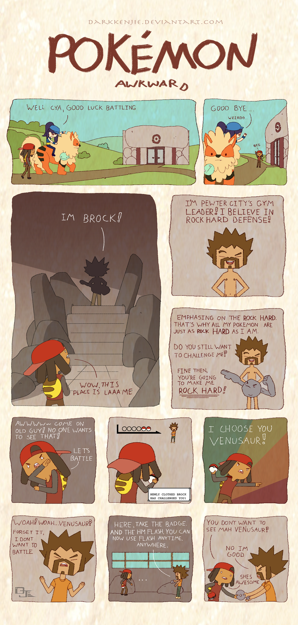 Pokemon Awkward: Brock Hard by DarkKenjie