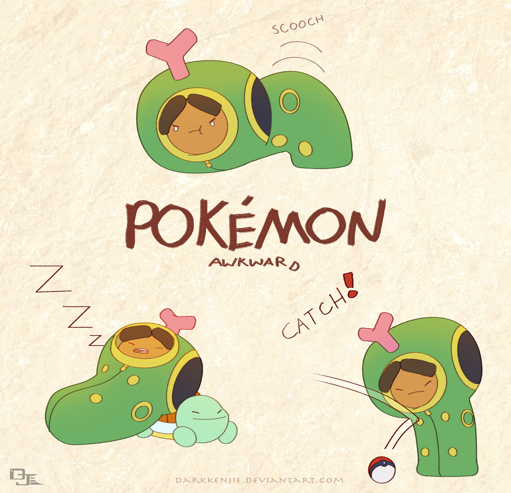 Pokemon Awkward: Caterpie-j's by DarkKenjie