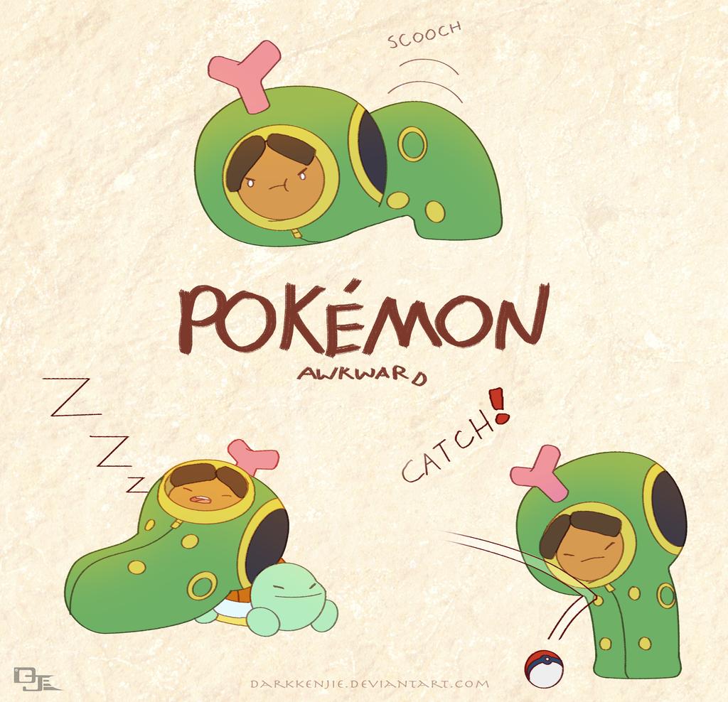 Pokemon Awkward: Caterpie-j's by DarkKenjie