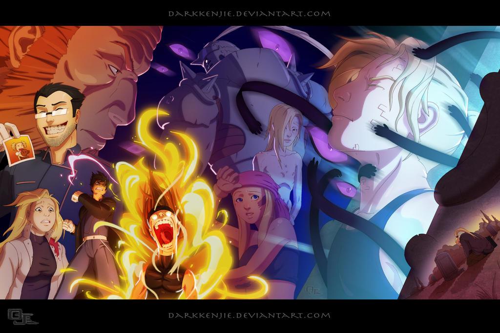 Full Metal Alchemist Brotherhood By DarkKenjie
