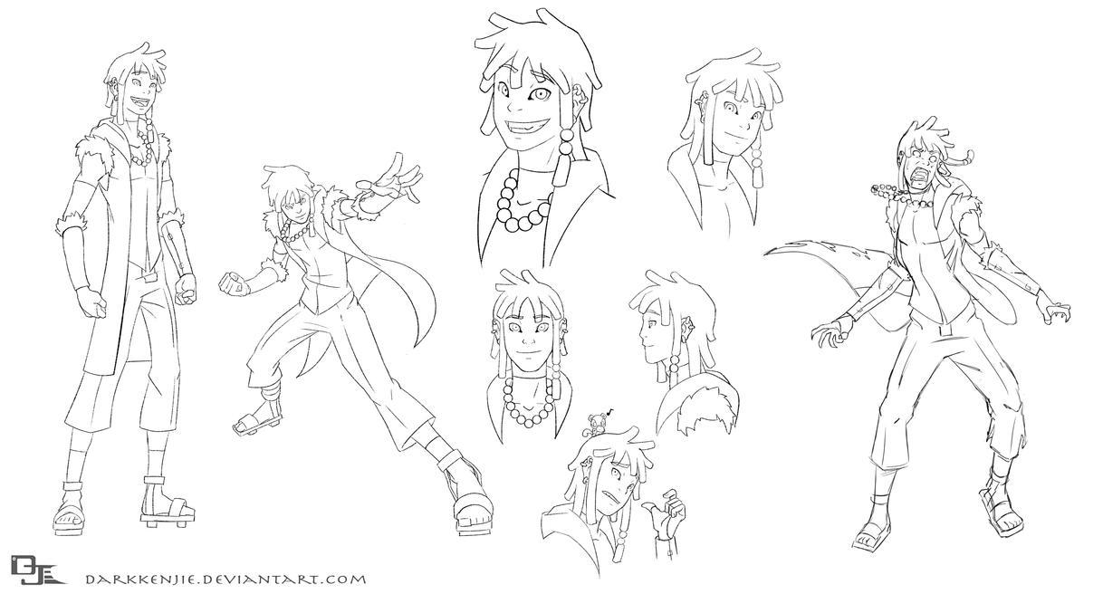 Male Character Design Sheet : Kenjie model sheet by darkkenjie on deviantart
