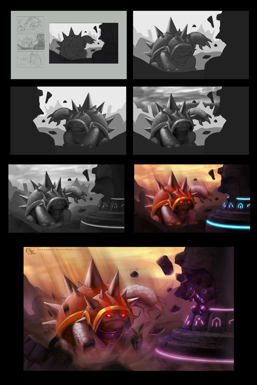 Rammus Progress by DarkKenjie