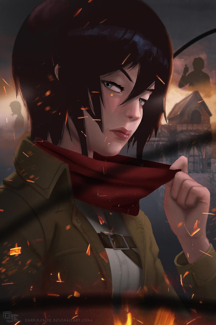 Mikasa Ackerman Attack on Titan by DarkKenjie