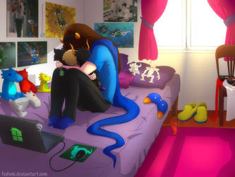 Commission - One Last Update...What Will I Do? by feshnie